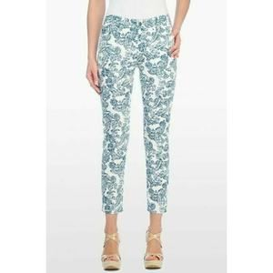 NYDJ Jeans Paisley Print Women's Skinny Ankle 6